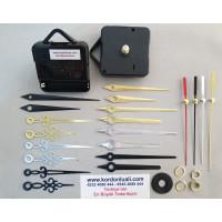 Saat Mekanizması Askılı Akar Şaft 18,5 mm Metal Akrep Yelkovan