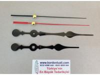 Akrep 13,8 cm Yelkovan 17 cm Metal Siyah 100 Adet